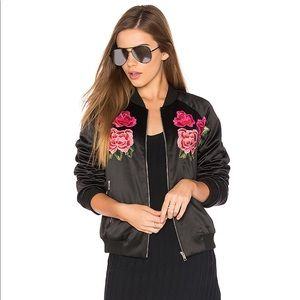 Endless Rose Floral Embroidered Bomber